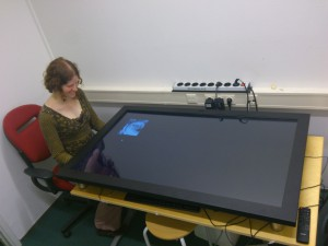 Large touch screen